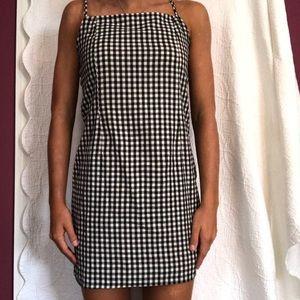 1ca77312cef SHEIN Dresses - Gingham print cami dress
